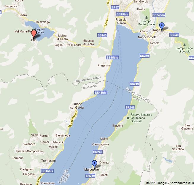 gardasee strand karte Working Cocker.de » Ledro /Gardasee (I)